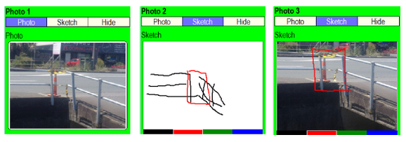 FIELDFIX image insert options - photo, sketch or sketch-on-photo